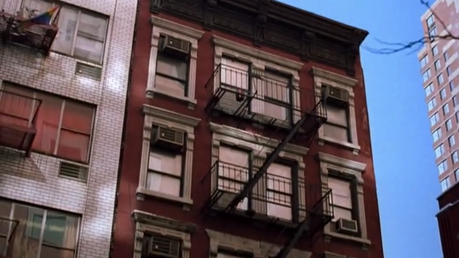 In serias Phoebe says that she lives on Morton Street, but in fact where is other builbing. Where thi