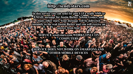 Send SMS oder E-Mail Message to Justin Timberlake and Mehr stars Real !