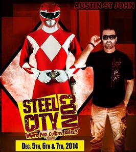 Austin St John will be attending Steel City Con in December it will definitely be a great time. It is