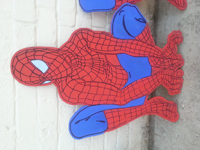 Hi made to order spiderman mdf uithangbord art just under 3 foot tall.take a look at MDFLETTERS / Facebook