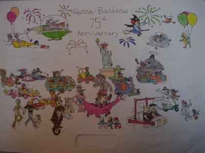 Attention all tu HB fans out there! Attention, please! It's Hanna-Barbera's 75th año of adventure,