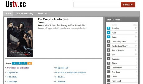 http://ustv.cc/episode/The-Vampire-Diaries.htm Actors: Nina Dobrev, Paul Wesley and Ian Somerhalde