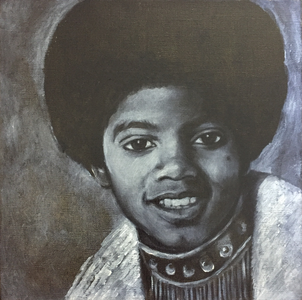 In 2009 I painted five portraits of Michael Jackson. Size 30 x 30 cm, oil on canvas. I want to sell