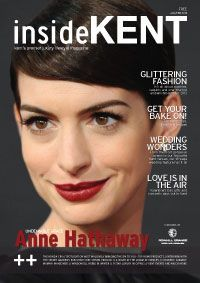 Hi Everbody, I am here to let anda know that Anne Hathaway is on the front cover of insideKENT Maga