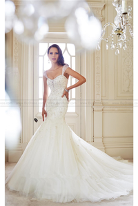 The latest trend in bridal fashion in 2016 is Bejeweled,Wedding gowns from 2016 Bridal Fashion