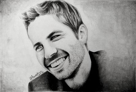 Hi Guys, Artist here, I have recently complete a portrait of the lovely Paul Walker, I would like to