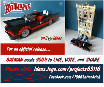 The 1966 Batmobile and Gotham scenery, to Celebrate the 50th anniversary of the televisi series tha