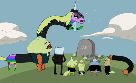 Three things have me seriously suspecting that Jake will die in the Adventure Time finale: 1. The ly