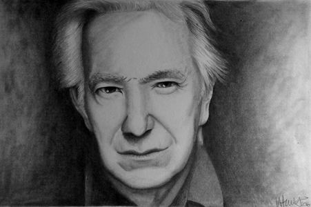 Hi guys, Artist here, i have recently finished a portrait of the lovely Alan Rickman, I wondered if a