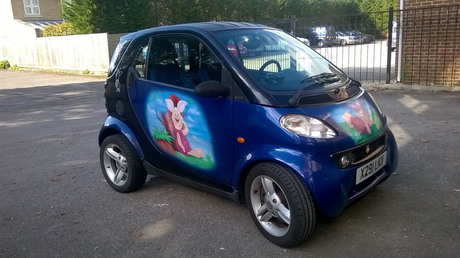 Our lovely hand painted/ decorated smart must sale.