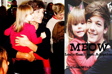 I had always thought the little girl in the pic on the left was one of louis' twin sisters until toda