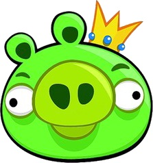 Master of the pigs,Leader of the hogs and King of the bad piggies.He is king pig,fat,lazy and in char
