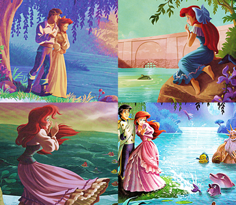 Prince Eric decides to build Princess Ariel a lagoon, so she can have the best of both worlds. Everyt