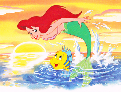 """Here is the Walt disney Book of """"Ariel and the Secret Grotto"""", released in 1990, although the cover i"""