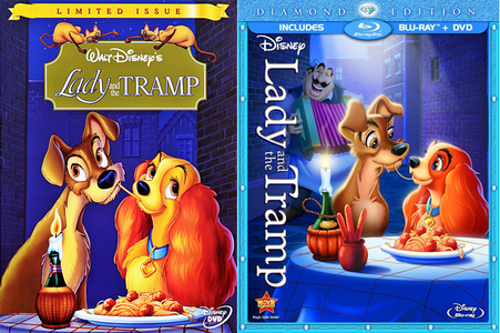 Here I will post Comparison Screencaptures from 2 different versions of Lady and the Tramp. The bahagian, atas i