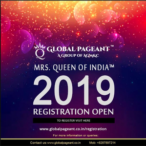 The Global pageant is the most respectable タイトル and award in India for Married Women. It's your ch