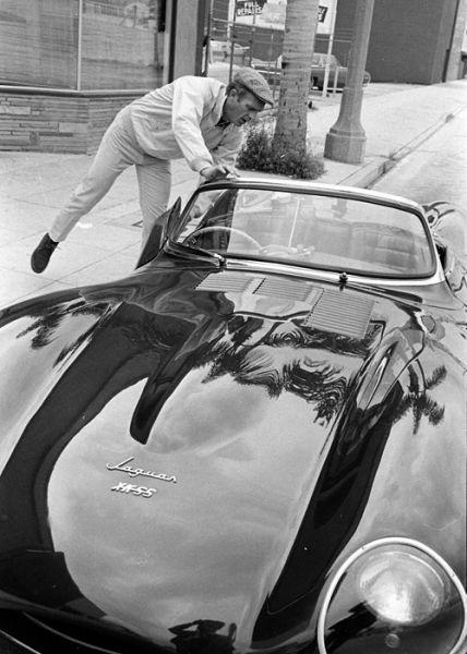 Steve and his Jaguar XK-SS
