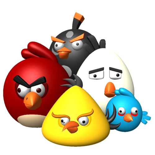 Angry Birds wallpaper entitled 3D angry birds