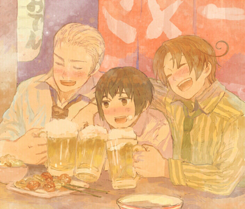 A Drink With The Axis Powers~!