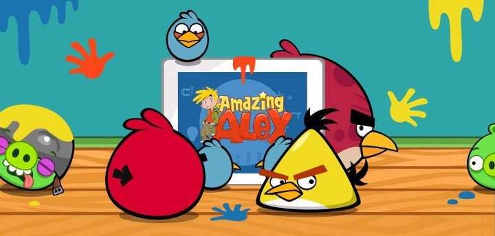 Angry Birds Playing Amazing Alex