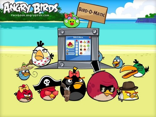 Angry Birds wallpaper possibly with anime entitled Bird-O-Matic!