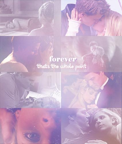 Buffy and Angel.