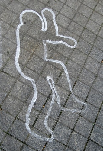 랜덤 바탕화면 called Chalk Outline