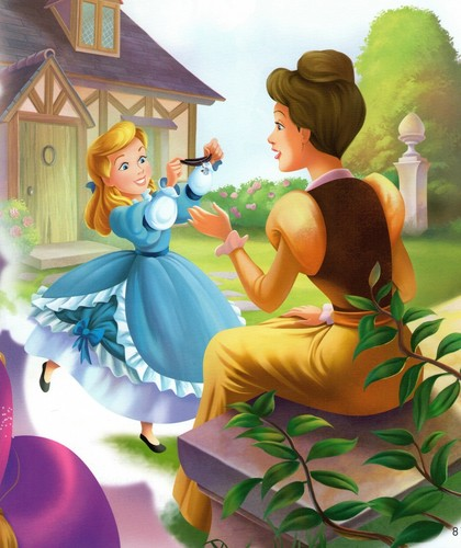Cinderella wallpaper containing a bouquet called Cinderella and her Mother