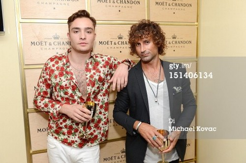 Ed Westwick at moet & chandon suite during 2012 US OPEN (sept 6)