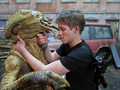 Falling Skies BTS - Connor & Skitter - falling-skies photo