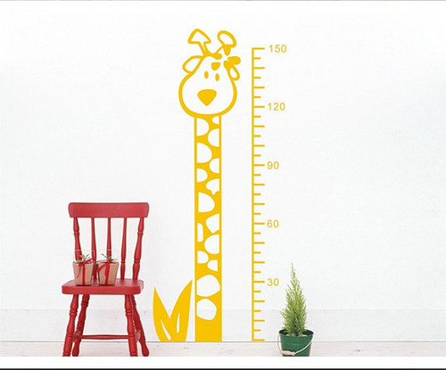 Giraffe Height Measurement Стена Sticker