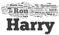 Harry Potter and the Chamber of Secrets word cloud