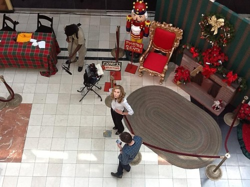 Hilarie  Burton ShootingA Scenein Naughty or Nice Movie