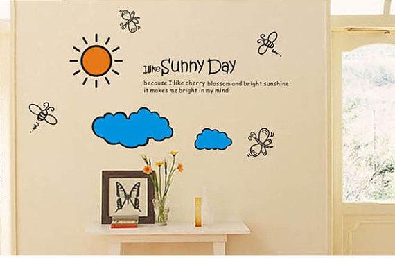 I Like Sunny araw pader Stickers