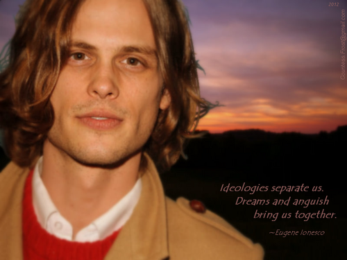 Dr. Spencer Reid wallpaper possibly containing a green beret titled Ideologies