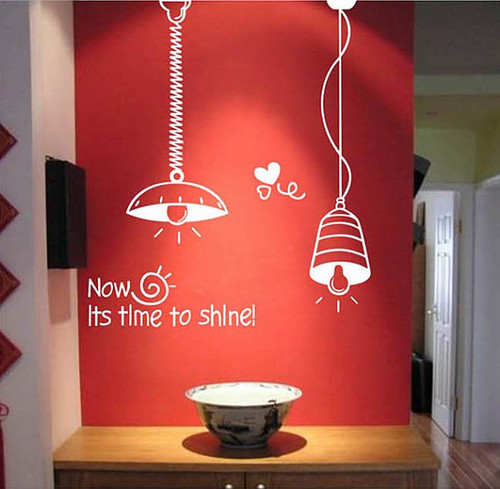It is Time to Shine with light mural Sticker