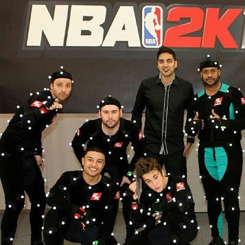 Justin Bieber, Alfredo Flores, Ryan Good, Scooter Braun and Kenny Hamilton