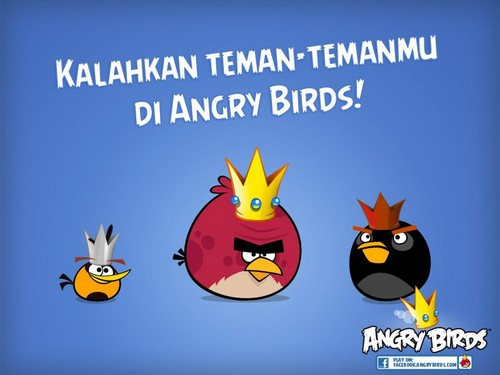 angry birds wallpaper containing animê entitled Kalahkan Teman-Temanmu Di Angry Birds!