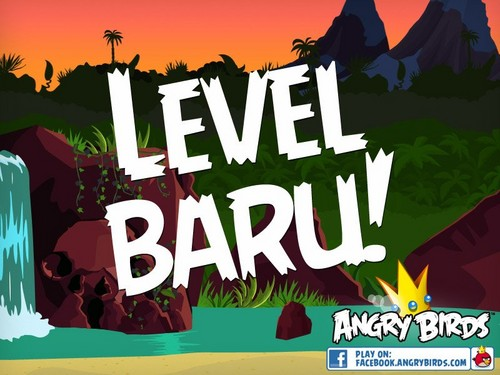Angry Birds karatasi la kupamba ukuta containing anime called Level Baru!
