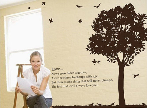 Love Africa Prairie Tree Wall Sticker