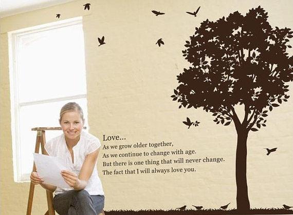 Любовь Africa Prairie дерево Стена Sticker