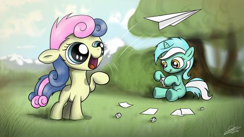 Lyra and Bon Bon Dump