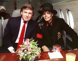 Michael With Good Friend, Donald Trump
