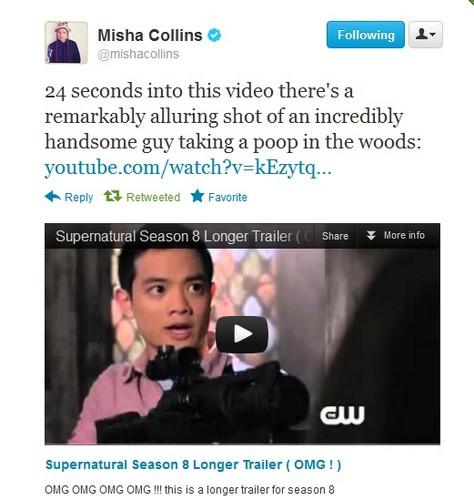 Misha tweets the Season 8 Promo