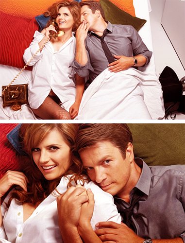 Nathan Fillion & Stana Katic fond d'écran possibly with a neonate entitled Nathan&Stana