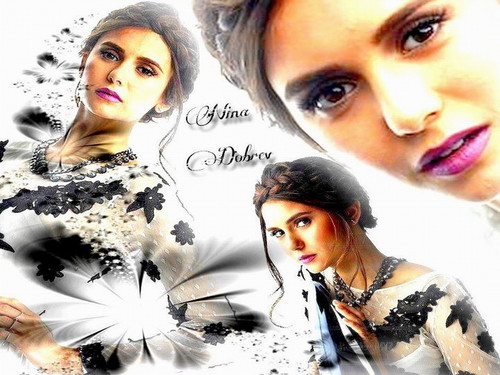 Nina Dobrev wallpaper probably containing a portrait called Nina Dobrev