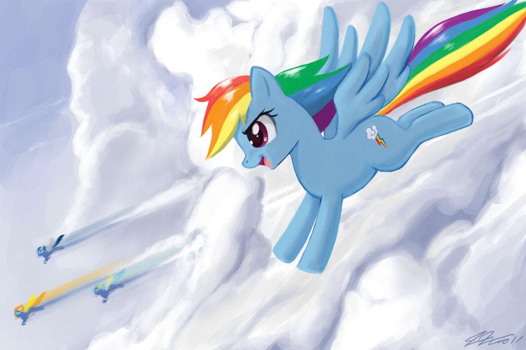 rainbow dash  my little pony friendship is magic fan art