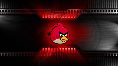 Angry Birds karatasi la kupamba ukuta entitled Red Bird