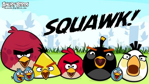 angry birds wallpaper with animê entitled SQUAWK!