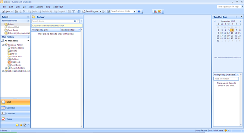 Screenshot for Microsoft Office Outlook 2007 on Windows XP